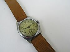 Vintage Grana Men's Fab Suisse Manual Wind Wrist Watch Leather Band RUNS GREAT