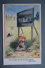 R&L Postcard: Comic, Land to Let Rent, Army Soldier Boy Courting, T Gilson