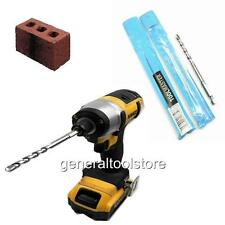 IMPACT DRIVER HEX MASONRY  DRILL BITS 6 MM FOR RED WALL PLUGS STONE CONCRETE
