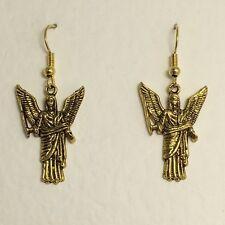 LOVELY JALIEL ANGEL EARRINGS GOLD PLATED WISDOM AND HARMONY M11