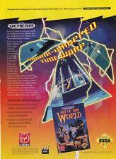 Original 1992 OUT OF THIS WORLD Sega GENESIS video game print ad page