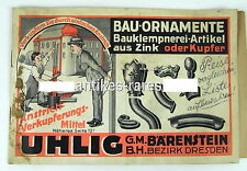 Katalog UHLIG Bauornamente aus Zink o. Kupfer SELTEN