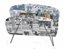 46cm Newspaper Print Magazine Rack Holder Storage Stand Organizer and Metal Base