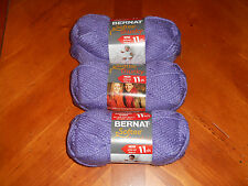 Bernat Softee Chunky Yarn Lot Of 3 Skeins (Lavender #28307)