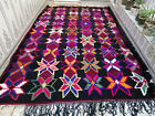 Moroccan Handmade Vintage Wool Rug Tribal Carpet 7×10 ft Beni Ourain Berber Rug