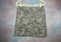Eddie Bauer Women's Skirt Size 6 Green with Purple Floral Print Above Knee Cargo