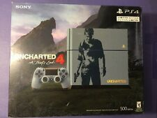 Sony PS4 500GB Grey Blue Uncharted 4 Limited Edition Bundle NEW