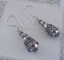 Traditional Design Solid Silver, 925 Bali Handcrafted Earring 36984