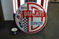 plaque émaillée Ducati 50 cm enamel sign bouclier