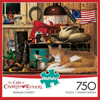 Buffalo Games - Cats Collection -Traveling Cowboy - 750 Piece Jigsaw Puzzle