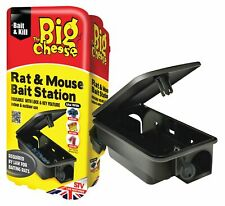 22cm Professional Rat & Mouse Bait Station Rodent Poison Lockable Box Block Trap