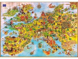 Heye 4000 Piece Jigsaw Puzzle - Degano: United Dragons (Triangular Box)