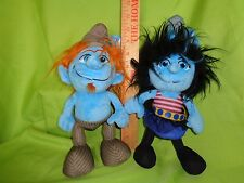 VEXY and HACKUS SMURF SET LARGE SIZE  PLUSH STUFFED TOY doll THE SMURFS MOVIE