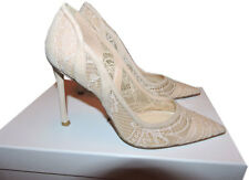 Christian Dior Lingerie Lace Pointed Toe Pumps Shoes  36.5 - 6 Nude