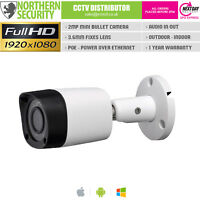 SONY IMX 2MP 1080P POE P2P 30M IR Outdoor Security Surveillance Bullet IP Camera