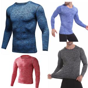 Herren Kompressionsshirt Funktionsshirt Laufshirt Top langarm Fitness Sport