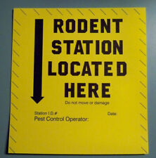 10 Mouse Mice Rat Rodent Station Located Here Marker Label Sticker Pest Control