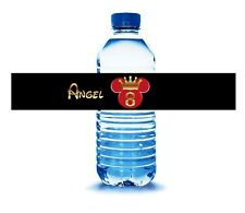 Bottle Water Stickers. Any Character of your choice.