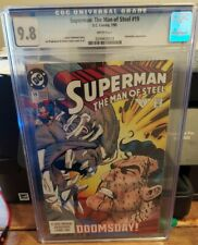 SUPERMAN: MAN OF STEEL #19 CGC 9.8  DOOMSDAY APPEARANCE.