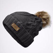 fabcc9687b8 EP Pom pom Beanie Knit Slouchy Baggy Fleece Lined Winter Hat Ski Cap Skull  Women