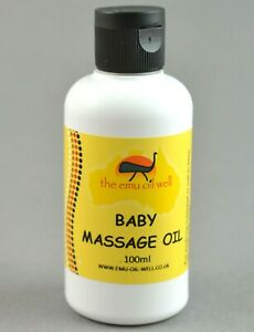 Natural Baby Massage Oil with Emu Oil & Vitamin E Gentle Soothing Skin 100ml