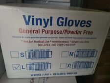 Case Of 1000 Pcs Large Vinyl Gloves Clear Powder Free Non Latex Gloves