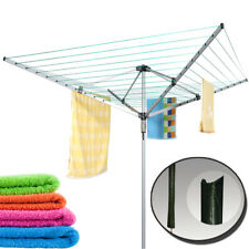 Outdoor Rotary Airer Garden Washing Line 50M Heavy Duty Sturdy Dryer Laundry