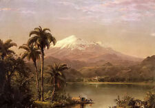 Oil painting frederic edwin church - tamaca palms landscape free shipping canvas