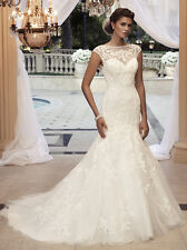 Casablanca Wedding Dress 2110 Size 6 white NWT