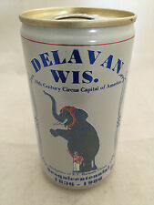 1836-1986 Delavan Wisconsin Point Beer Can 12oz Bottom Opened Great Shape