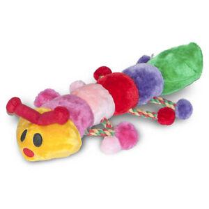 Danish Design Cleo the Caterpillar Soft Plush Dog Toy Honks and Rattles