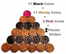 Carrom Board Coins 24 Piece Rosewood Coins + 2 Plastic Striker FREE