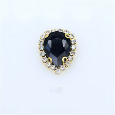 20pcs Sew On 14x10mm teardrop rhinestone crystal bead shining cut glass dress