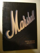 MARSHALL  ILLUSTRATED COLOUR BROCHURE 30 PAGE GUITAR/BASS AMPS ETC.ORIGINAL 1991