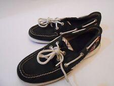 290f9d1aacb Sperry Top-Sider Cuero Mocasines de mujer Zapatos sin Taco barco Cordones  Arriba Azul Marino Talla 6.5 M
