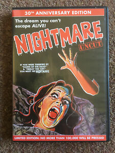 Nightmare (Romano Scavolini, 1981) rare OOP R0 Code Red 2-disc DVD, horror gore