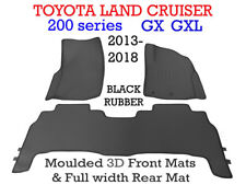 To suit Toyota Land Cruiser 200 Series 2013 - 2018 GX GXL 3D Rubber mats F & R