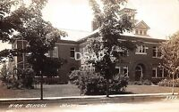 Michigan Mi Real Photo RPPC Postcard c1930s SCOTTVILLE High School Building