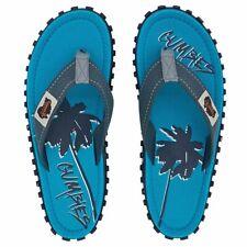 GUMBIES Islander Zehentreter Schlappen Strandlatschen Sandalen blau 2Palme - NEU