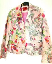NP189 Neu!!! Personal Affaier Samt blazer 38 Floral Blumen Auquarel rose Samt