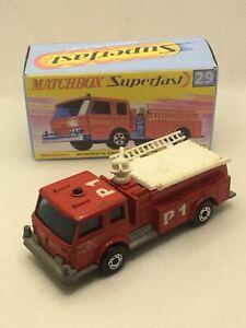 Matchbox Superfast 29 1981 Fire Engine Pumper N/Mint Boxed