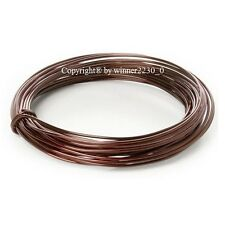 2mm Ø 12m Length Round Wire Aluminium Craft DIY Florist Decor 12 Gauge BROWN
