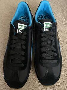 Puma Whirlwind Classic Black-Blue Jewel-White Men's Size 10