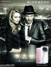 PUBLICITE ADVERTISING 056  2010  Givenchy parfums  Play & Justin Timberlake