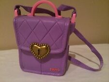 Fisher-Price Purse Surprise Inside Purple Cosmetics Handbag with Play Phone