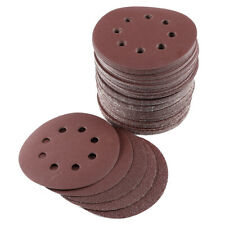 100pcs Disco de Lijar 125mm (8 Perforaciones) Papel de Lija Redondo Con Velcro
