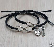 Infinity Couple Bracelet Key and lock bracelet Friendship Graduation Gifts
