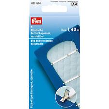 Prym 2 x 3 Stück Betttuchspanner verstellbar Bettlakenspanner Bett Laken 611561