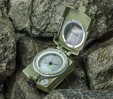 SE Military Lensatic and Prismatic Sighting Survival Emergency Compass with P...