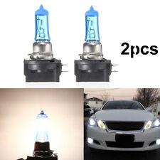 2* 55W H11B Halogen Super Bright Car Headlight Bulb Light White Lamp 12V 6000K